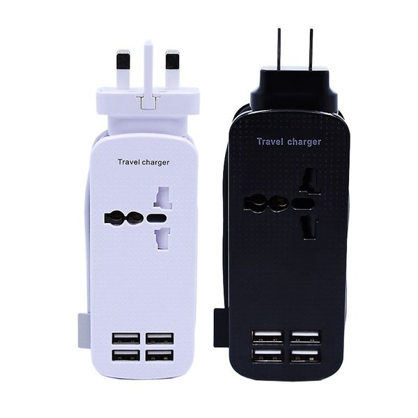 4 Ports 21W USB Charger Travel Charger And Rated Power Socket Used for Business At Home For Mobile Phone And Tablet UK Plug And US Plug