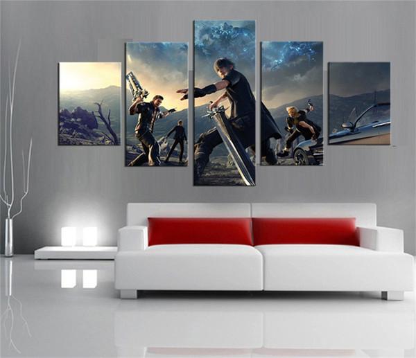 Compre Final Fantasy Xv Juego Para, 5 Piezas Hd Canvas Printing ...