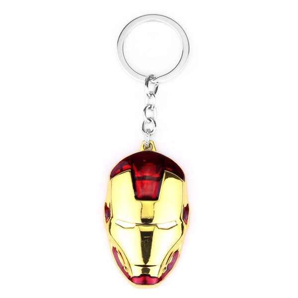 Super Hero The Avengers Iron Man mask Keychain Metal Key Chain Key ring Classic Pendant Souvenirs Gift For Men Llavero Chaveiro