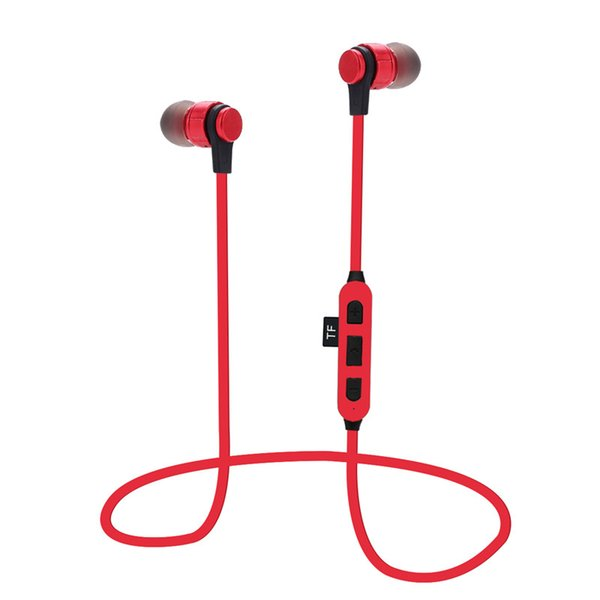 Bluetooth Earphone Sporty Wireless Headset TF Card Magnetic Suction Stereo Neckband HiFi Running Earphone 4.2 Version With Retial package