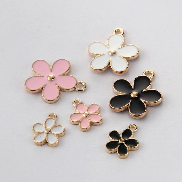 10pcs/lot Wholesale Hot High Quality Alloy Charm Flower Daisy Charms Pendant For Necklace Hair Headdress Jewelry Accessories