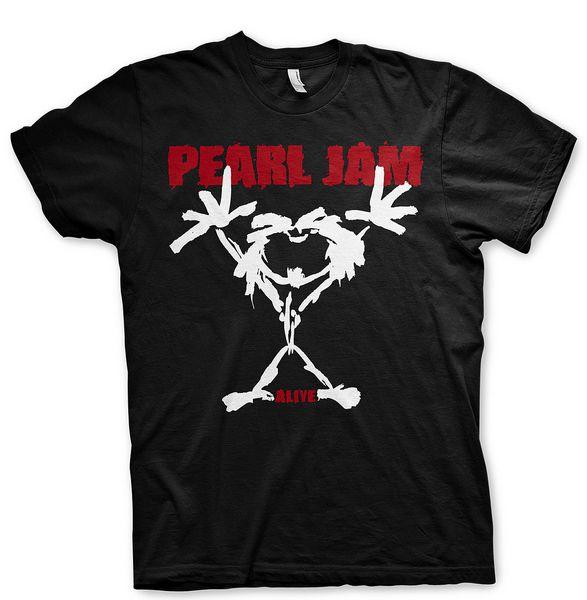 Inci Reçel On Logo Eddie Vedder Kaya Resmi Tee T-Shirt Mens Unisex Yaz Rahat Adam T Gömlek Kaliteli üst tee
