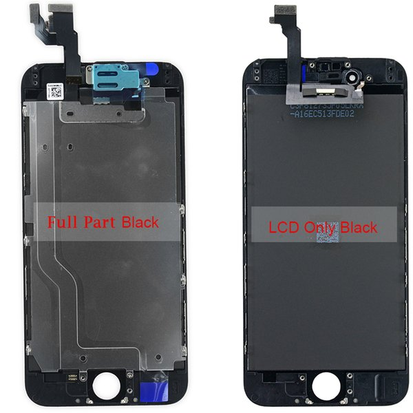 5 pcs A+++ 6G screen lcd replacement for iphone 6 cracked screen and broken digitizer repair full set +Home Button+Front Camera Complete