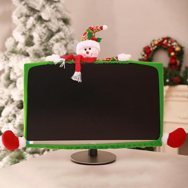 Acheter Livraison Gratuite 2018 Décoration De Noël Pour Ordinateur à La Maison Moniteur Lcd Bordure Couverture écran Bord Protéger Décorations De Noël