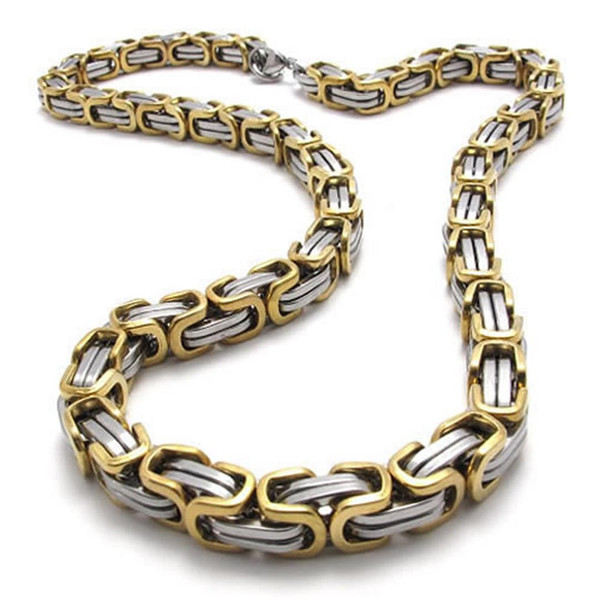 Men's Necklace, Stainless Steel Biker Chain King Necklace,Width 8mm, Length 55cm