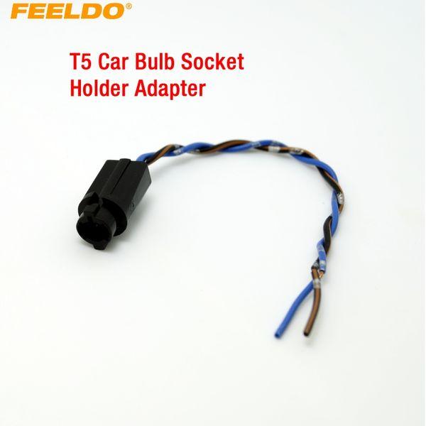 FEELDO 50PCS T5 Car LED Portalampada con adattatore per prese di corrente # 3816