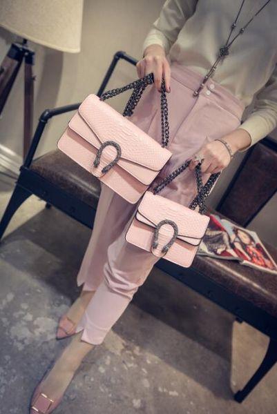2018 новый дизайнер сумки змея кожа тиснением мода женщины сумка цепи Crossbody сумка Марка дизайнер Сумка мешок основной