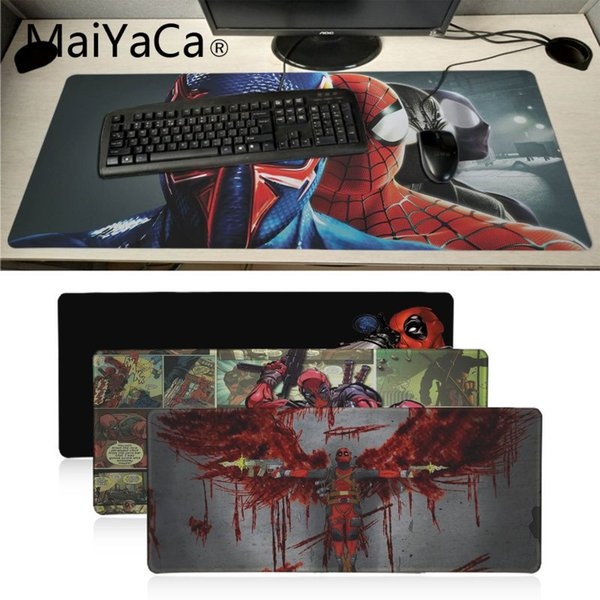 MaiYaCa Top Quality deadpool spider man Durable Soft Rubber Rectangle Mousemat PC Computer Notebook Mice Mats Gaming mouse pad