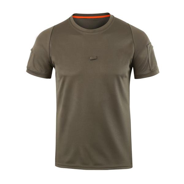 Shanghai Geschichte 2018 neue Verkauf Männer schnell trocken atmungsaktiv Sport Armee Training Mesh atmungsaktiv taktische T-Shirt