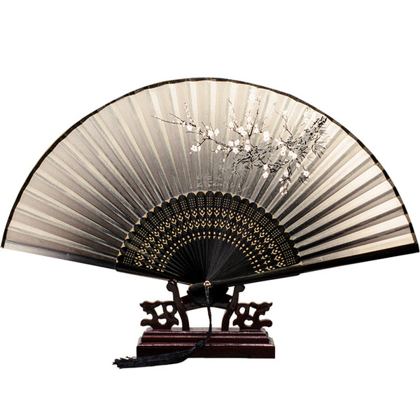 Summer Chinese style Japanese folding fan men and women can carry ancient style hand fan knitting technology a variety of colors patterns