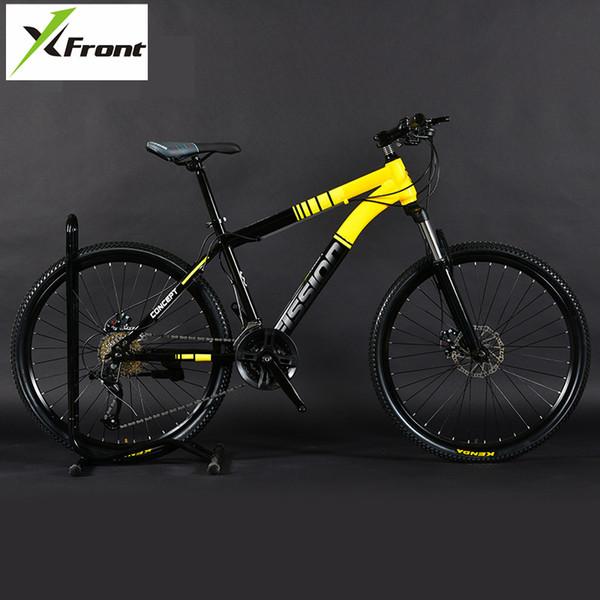 Yeni Marka Dağ Bisikleti Karbon Çelik çerçeve 24/26 inç Tekerlek 27/30 Hız Kilitlenebilir çatal Bisiklet Çift Diskli Fren MTB Bicicleta