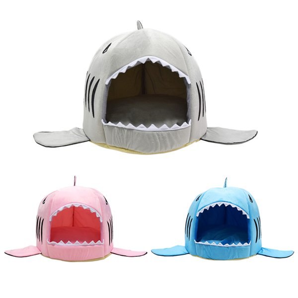 Wholesale Soft Dog House For Large Dogs Warm Shark Dog House Tent High Quality Cotton Small Dog Cat Bed Puppy House Pet Product