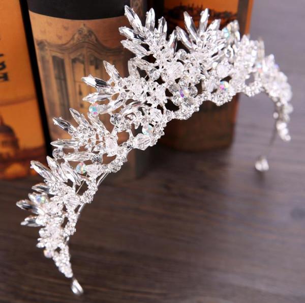 Crystal crown bridal crown hoop headwear birthday party headwear bride accessories