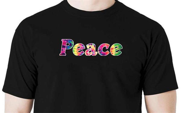 2018 Marque de mode cravate paix t-shirt amour hippie rétro nouveauté à manches courtes Tee Tops Vêtements
