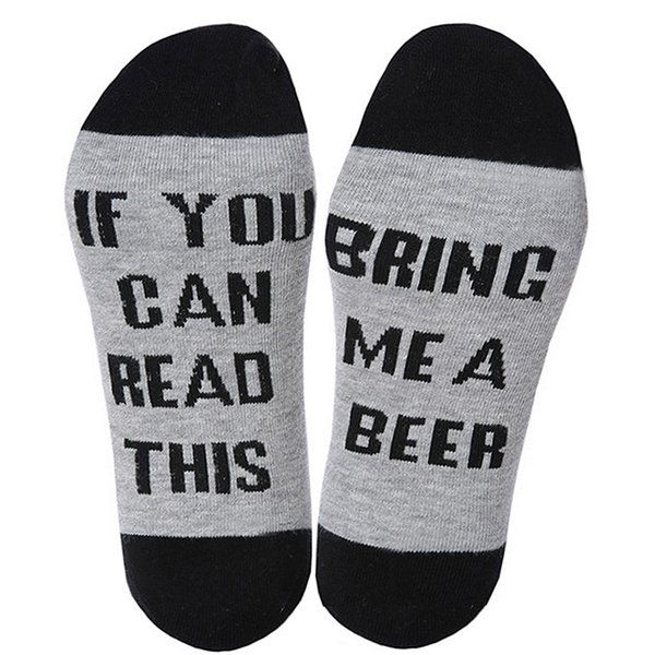 Fun Women Men Socks If You can read this Bring Me A Beer//Wine//Coffee Xmas Gift