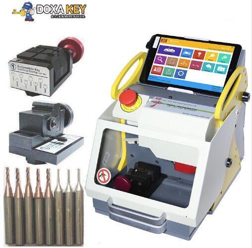 2 Clamp + Best Sec E9 Laser Key Cutter ,Locksmith key cutter, Auto Locksmith Tool ,SEC-E9 automatic key cutting machine