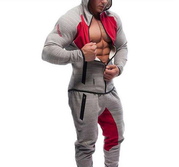 2016 Men Casual Hoodies Fitness Brand Clothing Camisetas Tracksuits Men Bodybuilding Sweatshirt Muscle Hooded Jackets L18101002