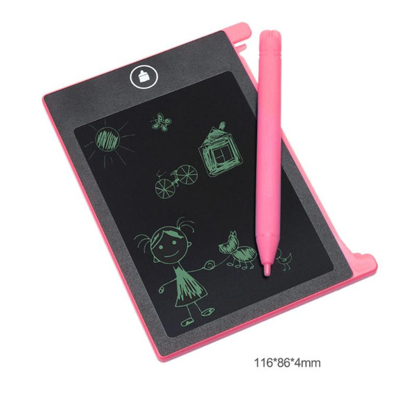 top popular 4.4 inch Digital LCD Electronic Notepad for Children Kids Writing Drawing Board Handwriting Painting Pads Baby Drawing Toys 2021