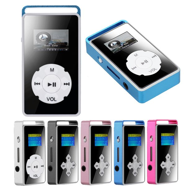 Digital MP3 Player LCD Screen Support Micro SD TF Card Stable performance 32G Mirror Music Media #1019