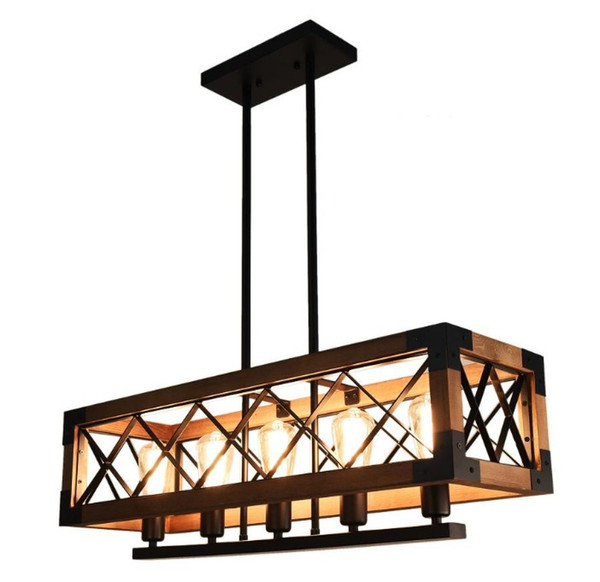 American retro industrial chandeliers ships LED lights direct selling iron bars chandeliers American industrial wind chandeliers LLFA