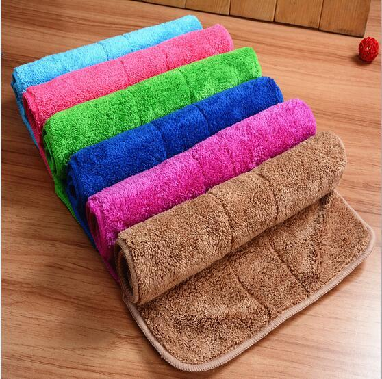 top popular 1usd pc Free Shipping Cleaning Towel Wash Towel Polishing Drying Cloths 2019