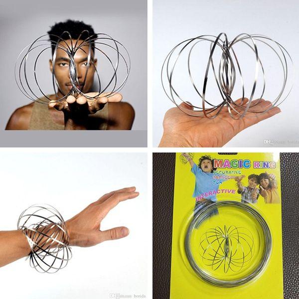 top popular Pure Energy Arm Slinky Magic Flow Rings Kinetic Spring Flow Toy Kinetic Spring Therapeutic Multi-Sensory Fidget Toy 2019
