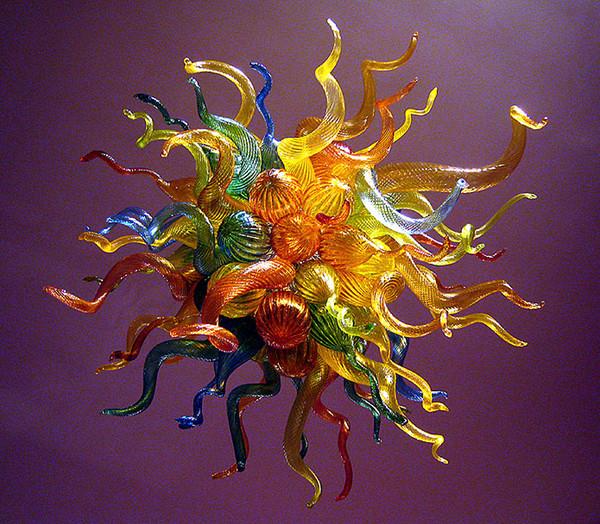 Переменного тока 110В 100% ручного дутья муранского стекла Чихули стиль люстра мульти цвет вися Сид современное искусство стекло люстра для декора виллы