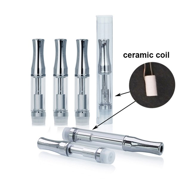 Factory Price 92A3 Cartridge Vape Atomizer Metal Tip Cartridge Ceramic Coil Glass Tank E Cigarette 510 Cartridge for Thick Oil Disposable Va