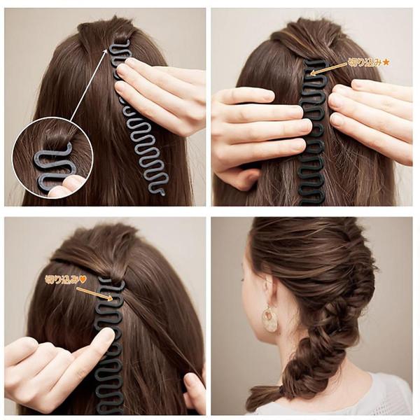 Fashion Magic Hair Braiding Pesce Bond Waves Braider Strumento Roller con capelli Twist Styling Bun Maker