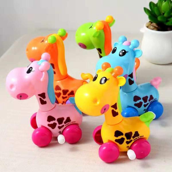 Animal dos desenhos animados populares curling rastejando quebra-cabeça brinquedos para crianças 1-6 anos de idade de plástico pequena mercadoria