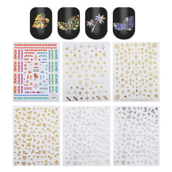 5pcs Nail Sticker Mixed Pattern Water Transfer Decal Sliders for Nail Art Decoration Tattoo Manicure Wraps Tools Tip