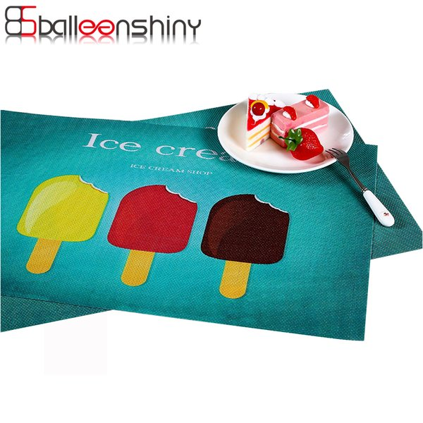 BalleenShiny PVC Dining Table Mat Disc Pads Bowl Coasters Waterproof Table Cloth Slip-resistant Pad Placemat Dining Mats