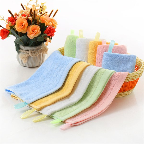 Solid Square 25*25cm Bamboo Fiber Face Towel Quick-Dry Water absorption D Women Fashion Girl Wash Hair Necessity Daily Using