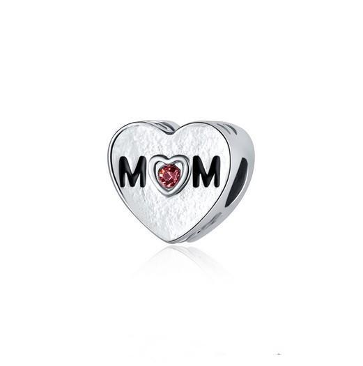 Fit Pandora Charm Bracelet European Silver Charms Heart Crystal Mom Bead Charm Beads DIY Snake Chain For Women Bangle & Necklace Jewelry
