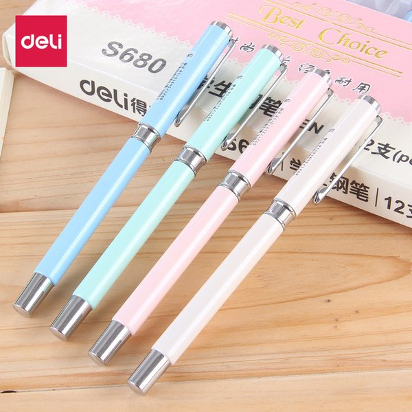 Factory direct sale of children's writing pens with 0.38 mm metal dark tips for students