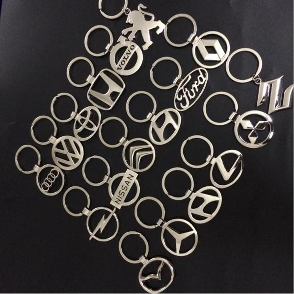 Fashion 3D Metal Car Logo Key Ring Keyring Keychain Key Chain Car Styling for Popular Car 4S Shop Gift For Opel BMW Honda Audi Benz VW Mazda