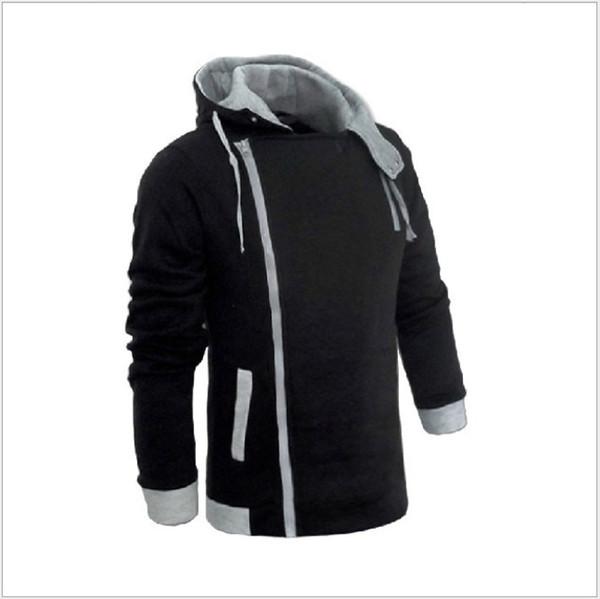 Moda Uomo Zipper Autunno Inverno Felpa Casual Slim Plus Taglie Cardigan Assassin Creed Felpe Capispalla Giacche Uomo Slim Pullover