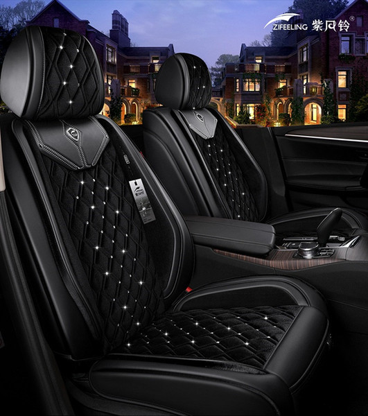 Universal Fit Car Accessories Seat Covers For Cars Top Quality Leather Five Seats Covers For Suv Sudan Diamond