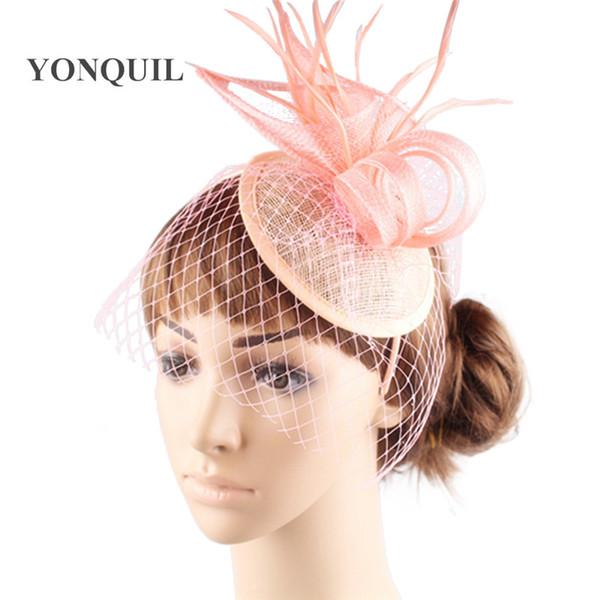 Düğün kadınlar sinamay parti vintage fascinator şapkalar güzel gelin düğün DIY saç aksesuarları headdress craft 6 adet / grup Ücretsiz kargo