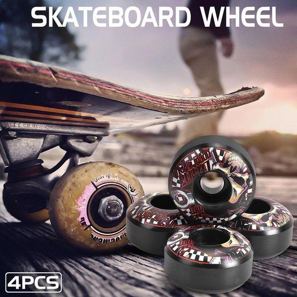 4 pezzi set Skateboard Durevole PU Longboard Cruiser Ruote Skateboard Ruota 51D Ruota in PU ad alta durezza