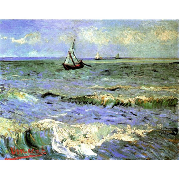 2019 Famous Vincent Van Gogh Oil Paintings Reproduction Hand Painted  Seascape At Saintes Maries Canvas Art From Kixhome, $126 64 | DHgate Com