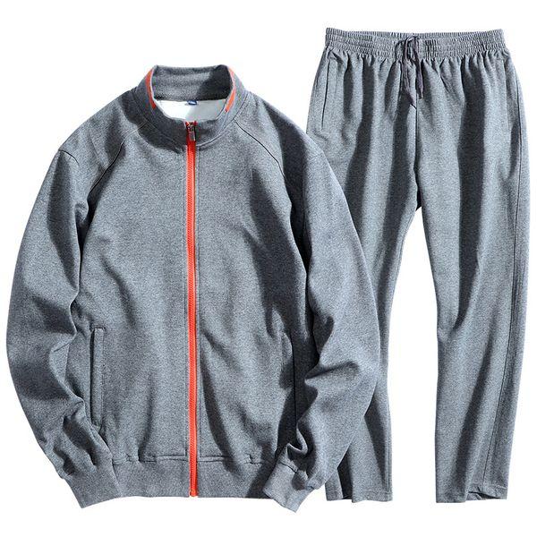 8XL Männer Trainingsanzug Sportbekleidung Herbst Reißverschluss Sport Jacke Pullover Sweatshirt + Hosen Laufen Joggen Casual Set Freizeit Sport Anzug