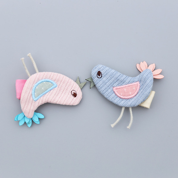 Cute Baby Girls Animal Hairpins Cartoon Fabric Bird Handmade Hair Clips Child Barrette Headdress for Girls Hair Accessories