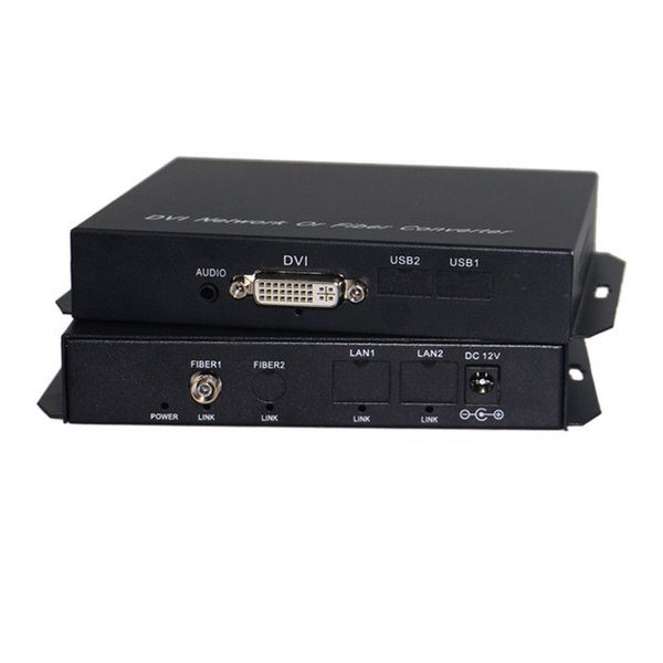 DVI+Audio optical extender Fiber Optic media converters 1080P Tx/Rx 1310/1550nm