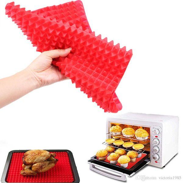 Pratik Yaratıcı Piramit Silikon Pişirme Mat Yapışmaz Pan Pad Pişirme Mat Fırın Pişirme Tepsisi Mat Mutfak Bakeware Gadgets