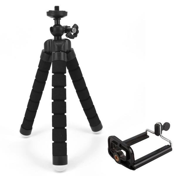 Flexibler Schwamm-Stativ-Halter für Handy-Auto-Kamera Gopro Universalmini-Kraken-Schwamm-Standplatz-Klammer mit Telefon-Berg-Klipp