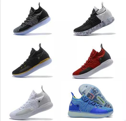 Ucuz KD 11 EP Elite Basketbol Ayakkabıları KD 11 s Erkekler Renkli Şeftali Reçel Erkek Doernbecher Eğitmenler Kevin Durant 10 EYBL All-Star BHM Sneakers