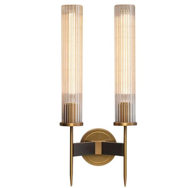 Moderna applique da parete camera da letto lampada da comodino corridoio balcone lampada da parete in vetro bagno specchio bronzo applique da parete in vetro lampada led llafa