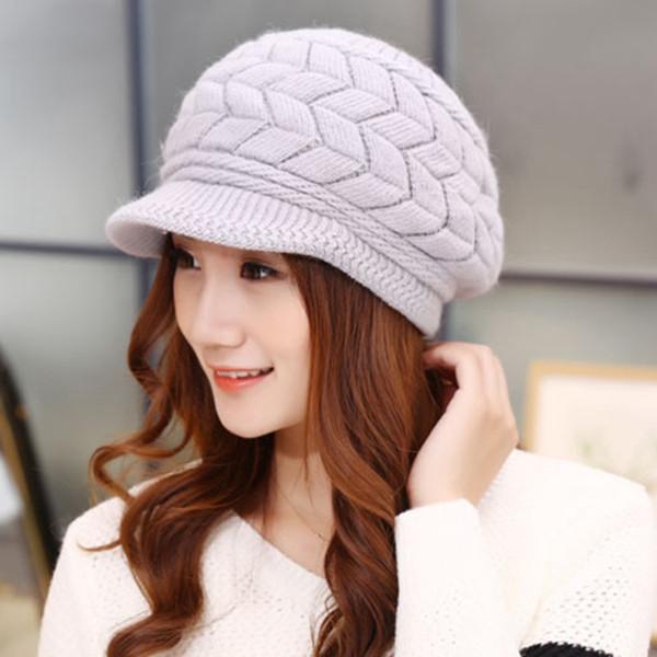 купить оптом горячая вязаная шапка женщины зимние шапки для женщин