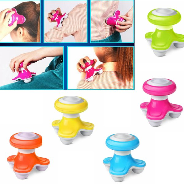 Mini Wave Vibrating Massager Electric Handled Vibrators Back Massager Battery USB Full Body Massage 5 Colors AAA651